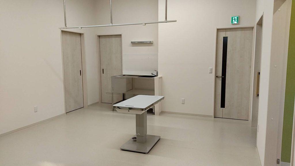 札幌市北区新川のエキゾチック対応動物病院の処置室